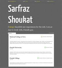 Creative Resume Template With CSS3 12