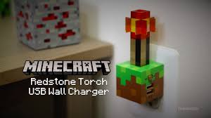 Minecraft Redstone Glowstone Lamp by Minecraft Redstone Torch Usb Wall Charger From Thinkgeek Geek