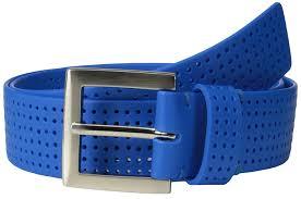 pga tour men u0027s perforated silicone belt royal blue 32 at amazon