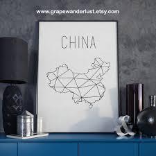Etsy Bathroom Wall Art by China Map China Art China Wall Art China Printable China Print