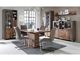 expendio esszimmer set cedric spar set 5 tlg wood vintage braun 160 200 x90 cm mit synchronauszug kaufen otto