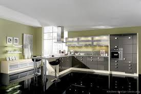 White Black Kitchen Design Ideas by Pictures Of Kitchens Modern Gray Kitchen Cabinets