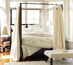Twin Canopy Bed Drapes by Canopy Bed Curtain Ideas Genwitch
