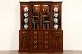 Henredon Breakfront China Cabinet by Sold English 1940 U0027s Vintage Georgian Breakfront China Cabinet