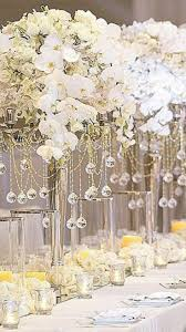 Orchids In Tall Centerpieces Wedding CenterpiecesElegant
