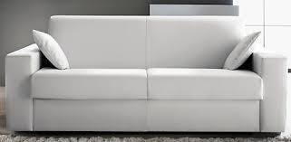 canape convertible simili canapé convertible revêtement simili cuir blanc konia modéle 1