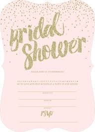 Blank Bridal Shower Invitations In Templates