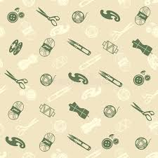 Pattern With Sewing Supplies Stock Vector Image