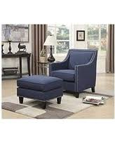 French Accent Chair Blue by Spectacular Deal On Emery Accent Chair U0026 Ottoman In French Script