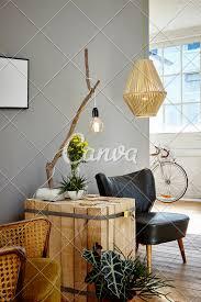 100 Urban Loft Interior Design Wooden Side Table Individual Design Adn Organic Decoration