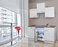 respekta küche miniküche küchenzeile singleküche einbau küchenblock 150 cm weiß