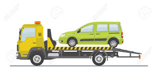 100 Tow Truck Clipart Green Car On Isolated On White Background Flat Style