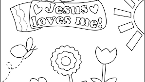 Jesus Loves Me Coloring Pages Printables Cecilymae New
