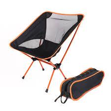 Chair One Compact Folding Camp Chair Black Orange Moon Chair ...