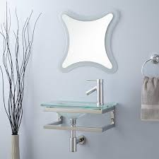Crackle Glass Bathroom Set by Tempered Glass Sink Signature Hardware