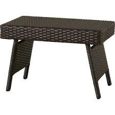 Ellington Circle Outdoor Foldable Wicker Side Table
