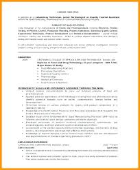 Laboratory Job Resume Examples Technician Lab Assistant Resumes Template Microbiology Sample