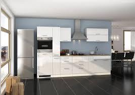 küchenblock mit e geräten hochglanz weiß
