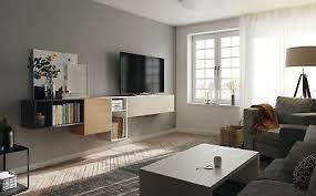 premium wohnwand soleil schwebendes sideboard inkl dämpfung lack oder holz ebay