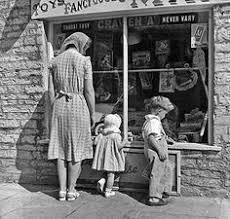 Vintage Toy Store Window Display