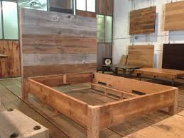 against the grain diy platform bed frame reclaimed wood