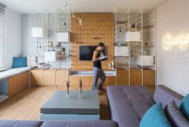Behind The Table A Wall Of Cabinets Has Couple Small Cut Outs That Are As Shelves Smart Move To Save Some Space