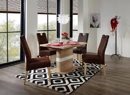 brauner stuhl für esszimmer in lederoptik