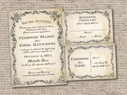 Sophisticated Design Of Vintage Wedding Invitations With Luxury Effect