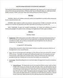 HR Outsourcing Contract Template
