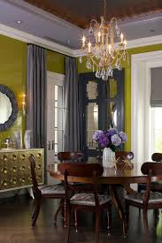 Glamorous Dining Room With Greenish Yellow And Shades Of Gray From James Yochum