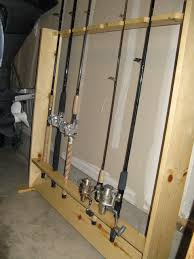 fishing rod rack diy with pictures and steps www ifish net