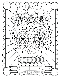 Coloring Sheets Pdf Day Dead Pages Skulls For Kindergarten First Of School Frozen Full Size