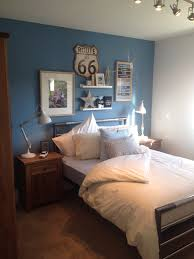 Room Ideas Quirky Teenage Boys Bedroom Great Use Of Artwork To Create A Feature Wall