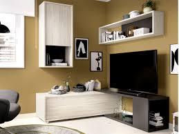 tv wand tv möbel mit stauraum gambie modulierbar anthrazit eichenholzfarben
