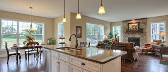 The Dariens Open Floor Plan Offers A Seamless Transition Between Kitchen Dining Area And Great Room
