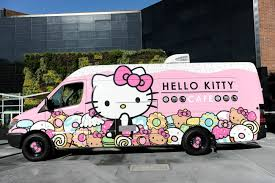 Hello Kitty Cafe Truck Stops In San Diego | Hello Kitty And Sponge ...