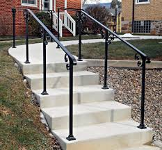 Best Exterior Stair Railings Pictures - Interior Design Ideas ... Outdoor Wrought Iron Stair Railings Fine The Cheapest Exterior Handrail Moneysaving Ideas Youtube Decorations Modern Indoor Railing Kits Systems For Your Steel Cable Railing Is A Good Traditional Modern Mix Glass Railings Exterior Wooden Cap Glass 100_4199jpg 23041728 Pinterest Iron Stairs Amusing Wrought Handrails Fascangwughtiron Outside Metal Staircase Outdoor Home Insight How To Install Traditional Builddirect Porch Hgtv