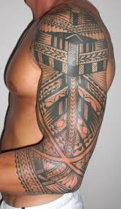 Other Photos To Tribal Cross Tattoo On Chest For Men