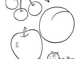 Fruit Printable Coloring Pages Free