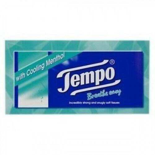 Tempo Tissue Regular Menthol - 80 Tissues