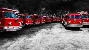 Fire Trucks - Red Black White ❤ 4K HD Desktop Wallpaper For 4K ...