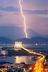 City Gorgeous Image Of A Lightning Strike