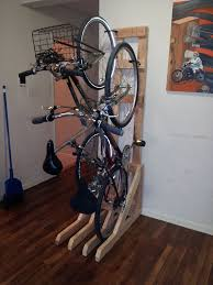 Ceiling Bike Rack Diy by Vertical Bike Rack From 2x4s 7 Steps With Pictures