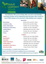 information bureau disability information bureau adults learner week cvs cheshire
