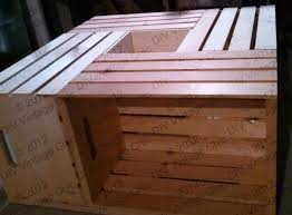Build Large Coffee Table by Diy Vintage Chic Vintage Wine Crate Coffee Table