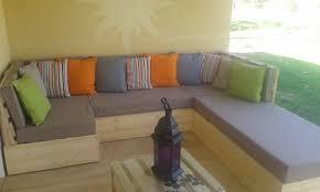fabrication canapé palette bois salon en palette