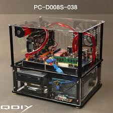 QDIY New Water Cooled Chassis Acrylic Transparent ATX Closed Computer