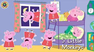 peppa pig jumping on bed peppa