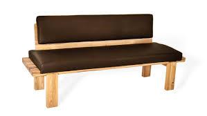 fall moderne elegante sitzbank mit klaren linien echtleder