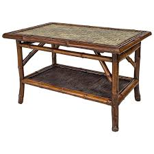 19th century bamboo tile top coffee table for sale at 1stdibs